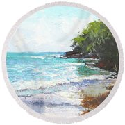 Noosa Heads Main Beach Queensland Australia Round Beach Towel