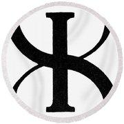 Nordic Rune Gilch Round Beach Towel