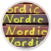 Nordic Rusty Steel Round Beach Towel