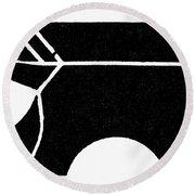 Nordic Symbol Anvil Round Beach Towel