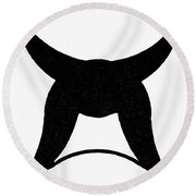 Nordic Symbol Horns Round Beach Towel