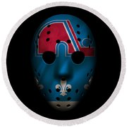 Nordiques Jersey Mask Round Beach Towel