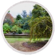 Norfolk Botanical Gardens Canal Round Beach Towel