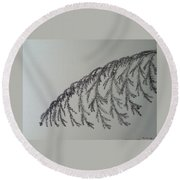 Norfolk Pine Round Beach Towel