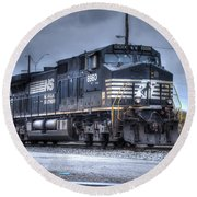 Norfolk Southern #8960 Engine II Round Beach Towel