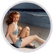 Norma Jeane Round Beach Towel