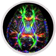 Normal Brain Diffusion Tractography Round Beach Towel