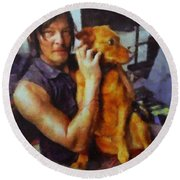 Norman And Charlie  Round Beach Towel