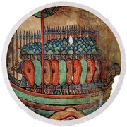 Norman Soldiers 11th Century Round Beach Towel
