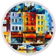 Normandy France Round Beach Towel