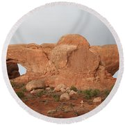 North And South Window Arches Np Round Beach Towel