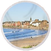North Berwick Round Beach Towel by Tom Gowanlock