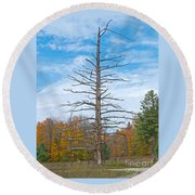 North Country Byway Round Beach Towel