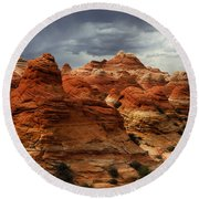 North Coyote Buttes Arizona Round Beach Towel