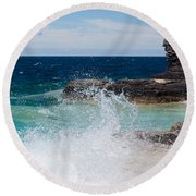 North East Winds Round Beach Towel
