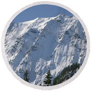 1m4443-north Face Of Big Four Mountain Round Beach Towel