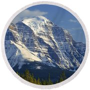 1m3549-north Face Of Mt. Temple Round Beach Towel
