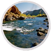 North Fork Of The Shoshone River Round Beach Towel