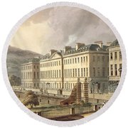 North Parade, From Bath Illustrated Round Beach Towel