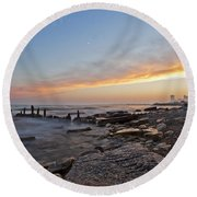 North Point Sunset Round Beach Towel