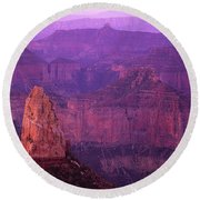 North Rim Grand Canyon Round Beach Towel