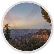 North Rim Sunrise 1 - Grand Canyon National Park - Arizona Round Beach Towel
