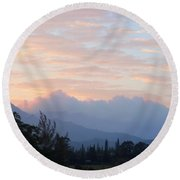 North Shore Haze Round Beach Towel