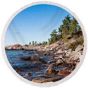 North Shore Of Lake Superior Round Beach Towel