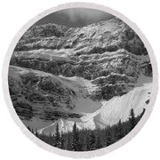 1m3536-bw-north Side Crowfoot Mountain  Round Beach Towel