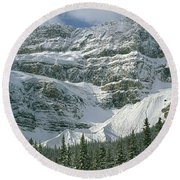 1m3536-north Side Of Crowfoot Mountain Round Beach Towel