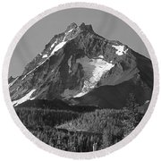 105615-north Sister Or,bw Round Beach Towel