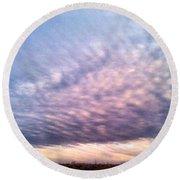 North Texas Sky Round Beach Towel