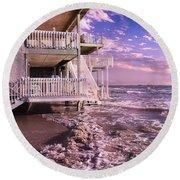 North Topsail Beach Tides That Tell Round Beach Towel