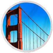 North Tower Golden Gate Round Beach Towel