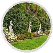 North Vista - Spring Flower Blooms At The North Vista Lawn Of The Huntington Library. Round Beach Towel