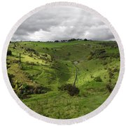 North West - Along Cressbrook Dale Round Beach Towel