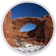 North Window Arches National Park Utah Round Beach Towel