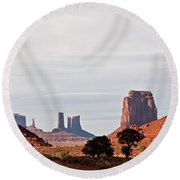 North Window Round Beach Towel