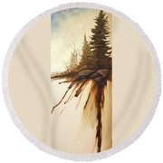 North Woods Pines Round Beach Towel