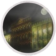 Northampton By Moonlight Round Beach Towel
