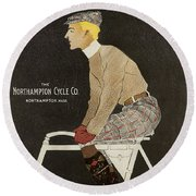 Northampton Cycle 1899 Round Beach Towel
