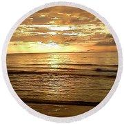 Northern Ireland Sunset Round Beach Towel