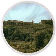 Northern Italy Countryside Round Beach Towel