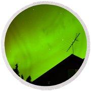Northern Lights - Aurora Borealis - Substorm Round Beach Towel