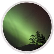 Northern Lights Disappear Round Beach Towel
