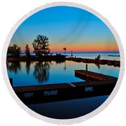 Northern Lights Round Beach Towel by Frozen in Time Fine Art Photography