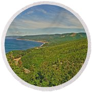 Northern Road Through Cape Breton Highlands Np-ns Round Beach Towel