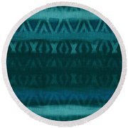 Northern Teal Weave Round Beach Towel by CR Leyland