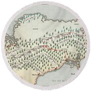 Northern Territories Round Beach Towel