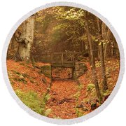 Northumberland, England  A Creek Round Beach Towel